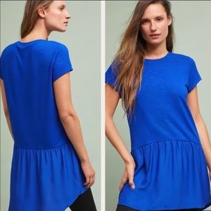 {Anthro} Dolan blue peplum tunic